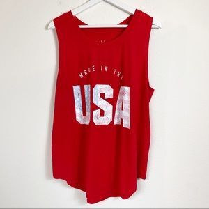 ISABEL MATERNITY - MADE IN THE USA Red Tank XXL